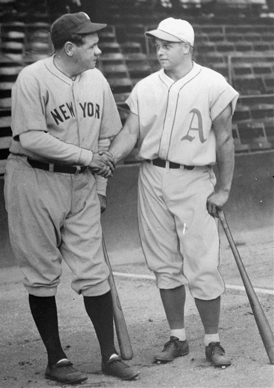 JIMMIE FOXX 1932, Philadelphia Athletics 58 home runs