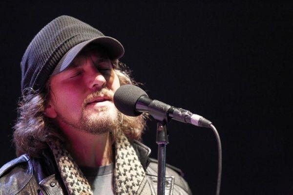 Eddie Vedder of Pearl Jam performs during the