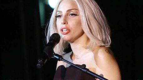 Lady Gaga at The Rally during NYC Pride