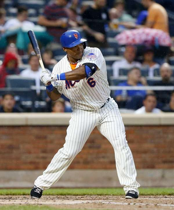 Marlon Byrd bats in the second inning of