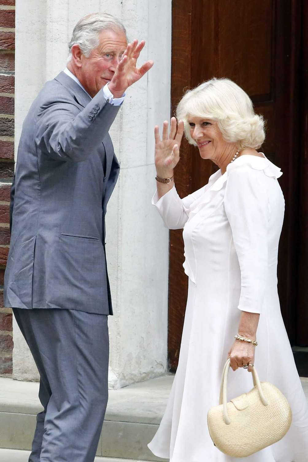 Britain's Prince Charles and his wife Camilla, duchess