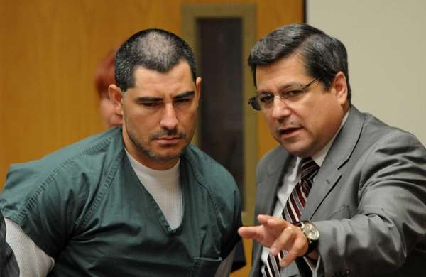 Jose Escobar inside courtroom at Riverhead Criminal Court