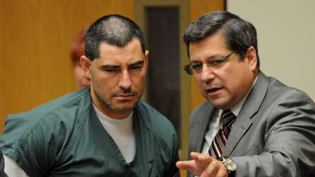 Jose Escobar inside courtroom at Riverhead Criminal Court