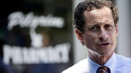NY mayoral candidate Anthony Weiner, seen here earlier