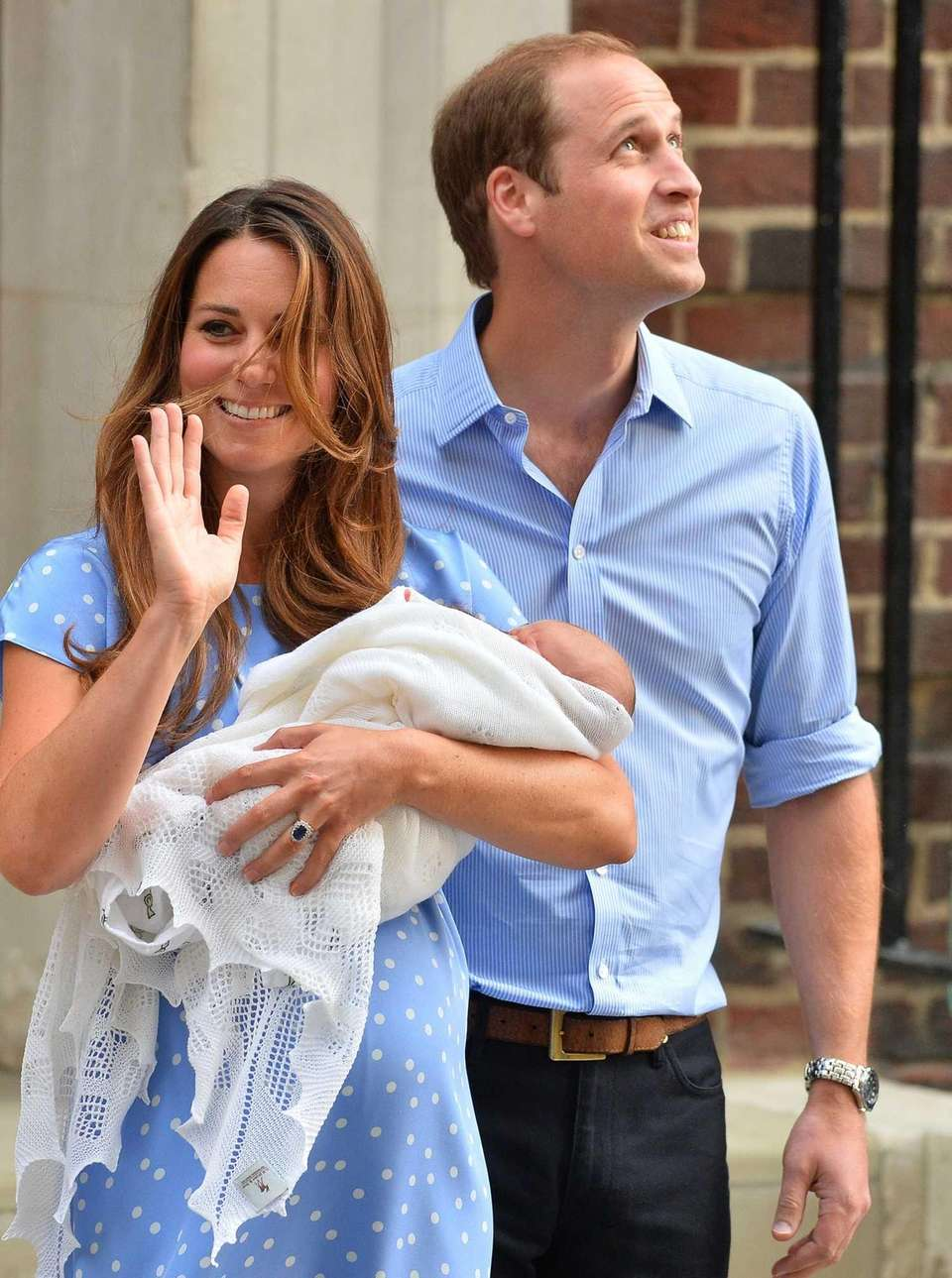 Prince William and Catherine, Duchess of Cambridge outside
