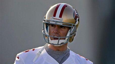 San Francisco 49ers kicker Billy Cundiff looks on