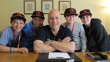 Kidsday reporters (l) Derek Livingston, Matthew Tracz, Sean