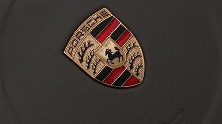 The company logo of German car manufacturer Porsche