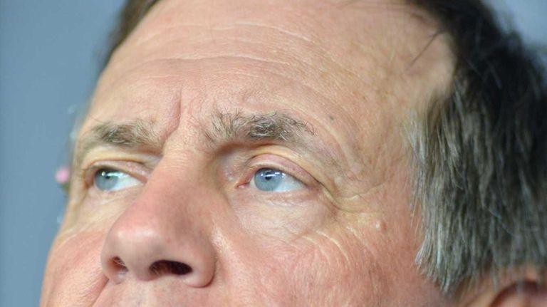 New England Patriots head coach Bill Belichick speaks