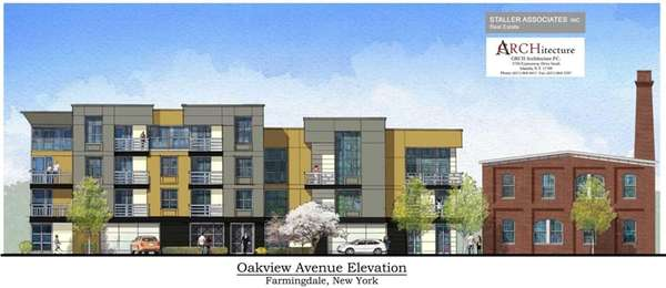 This rendering shows the proposed 27-unit apartment building,