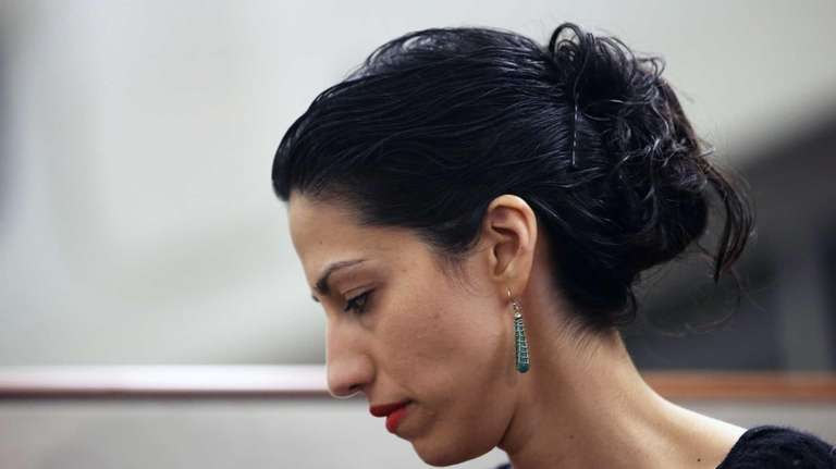 Huma Abedin, wife of Anthony Weiner, a leading