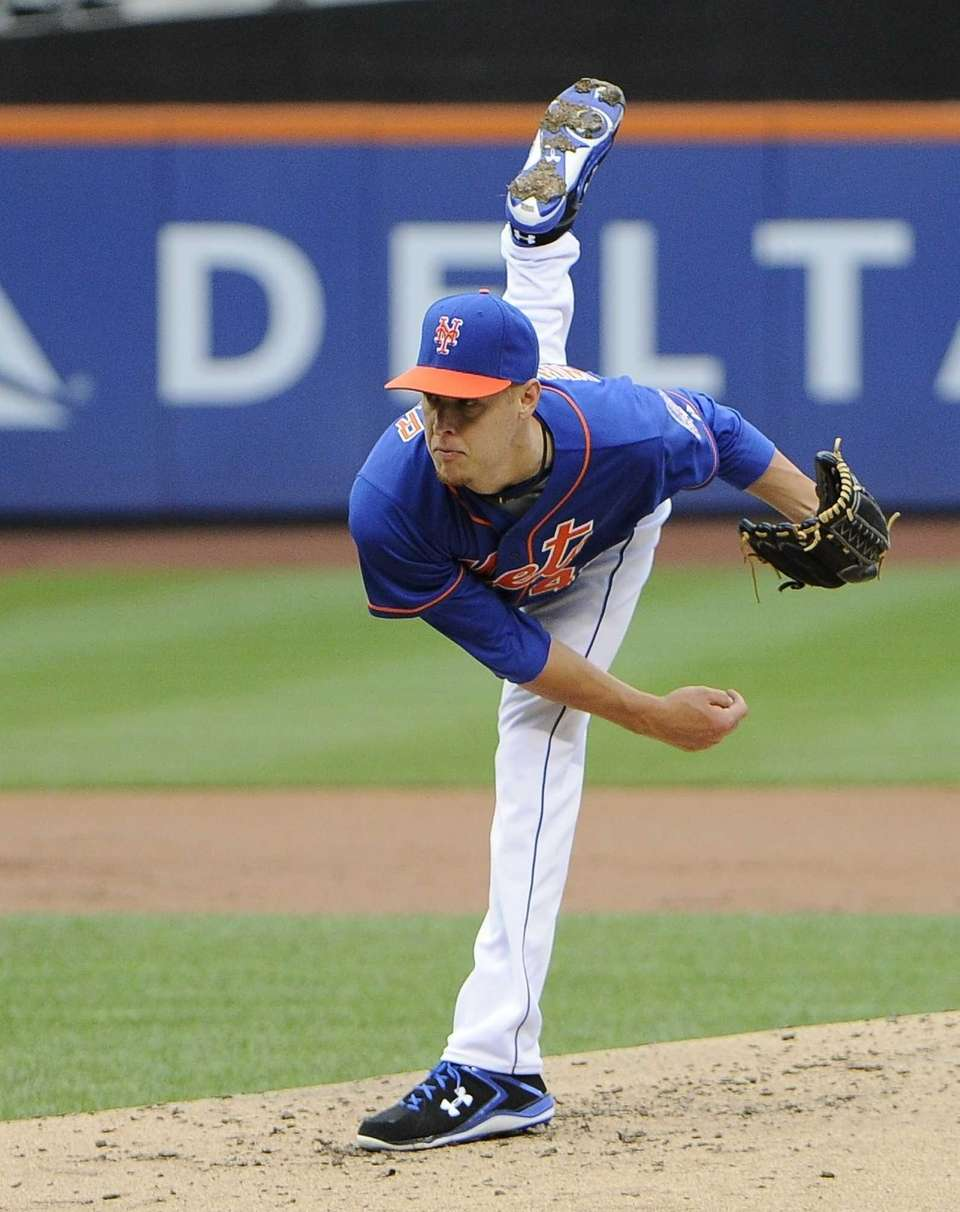 Starting pitcher Zack Wheeler of the Mets follows