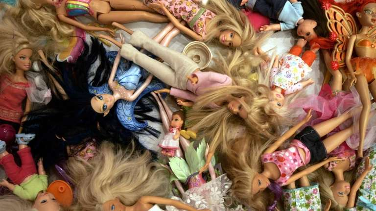 Barbie dolls are seen at the Barbie Store