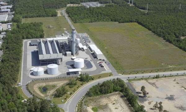 An aerial photo of LIPA's Caithness facility in