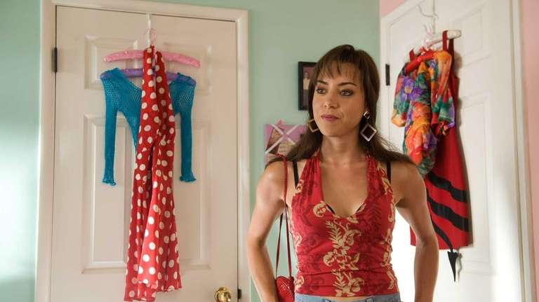 Aubrey Plaza as Brandy Klark in a scene