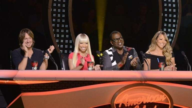 From left, Keith Urban, Nicki Minaj, Randy Jackson