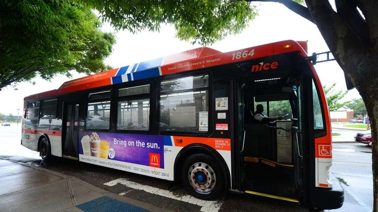 A NICE bus makes it route through Nassau