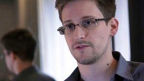 A still frame grab shows Edward Snowden, who