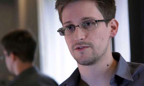 A still frame grab shows Edward Snowden, who