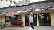 Point Lookout resident Lydia Flynn leaves Aggie's Market