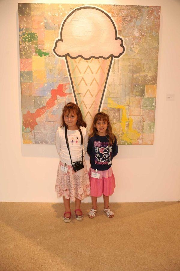 Ana Carolina and Lucia Maria attend the opening