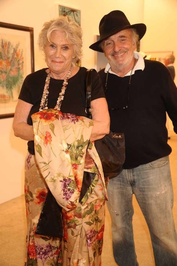 Marta White and Martin White attend the opening