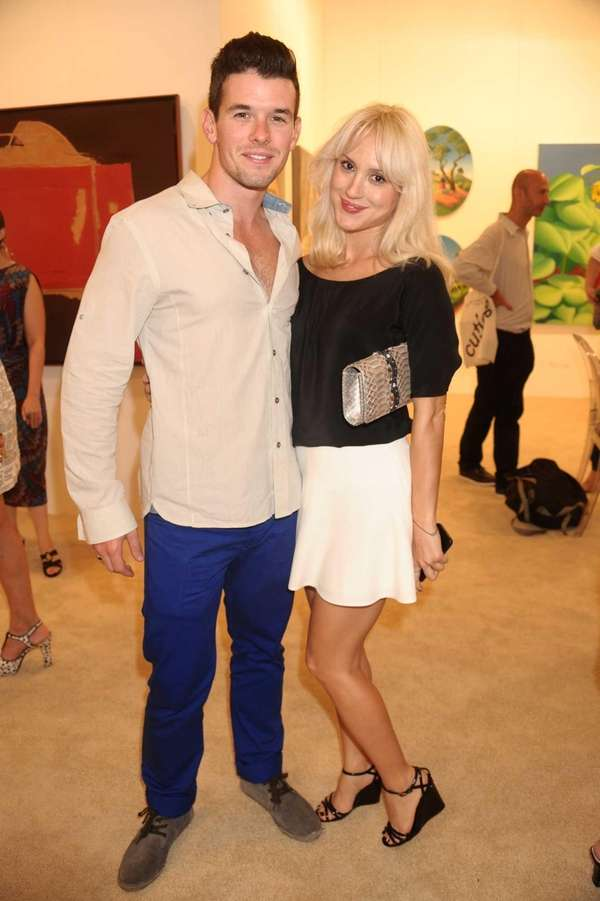 Taylor Rothschld and Seda Cek attend the opening