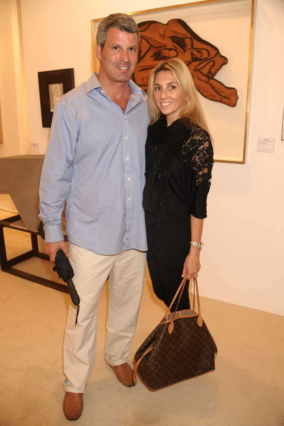 Zack Tunick and Nicole Tunick attend the opening