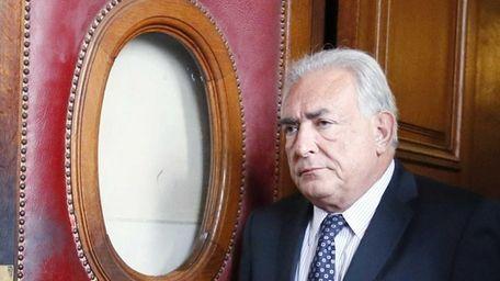 Former IMF chief Dominique Strauss-Kahn leaving a Paris