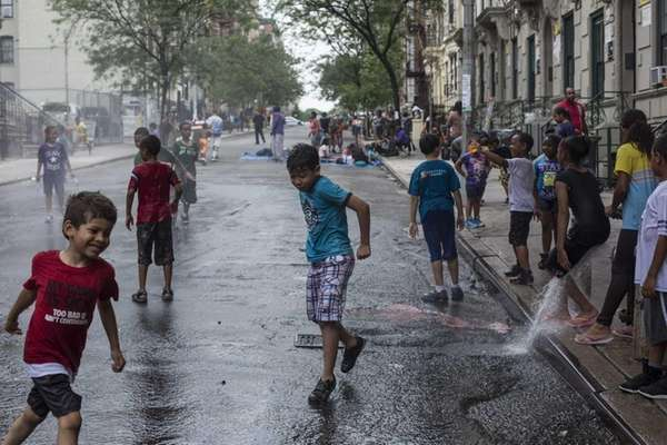 Cooling off on West 159th Street in Washington