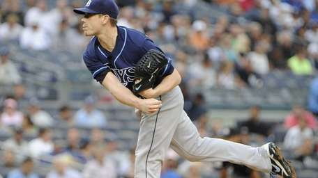 Starting pitcher Jeremy Hellickson of the Tampa Bay