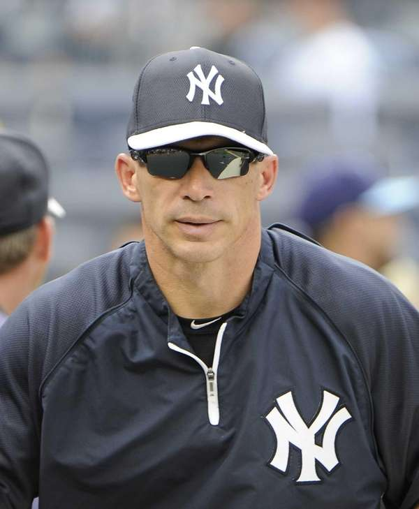 Joe Girardi is seen on the field before