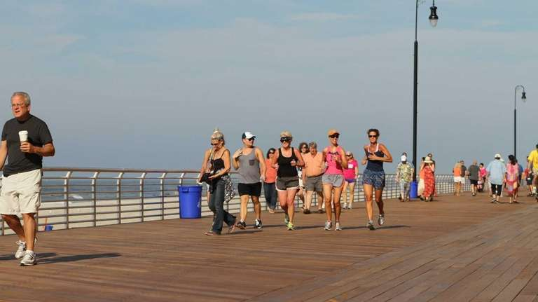 Long Beach officially reopens part of the boardwalk.
