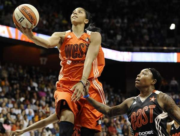 West's Candace Parker, of the Los Angeles Sparks,