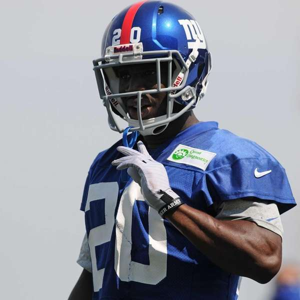 Giants cornerback Prince Amukamara practices during training camp.