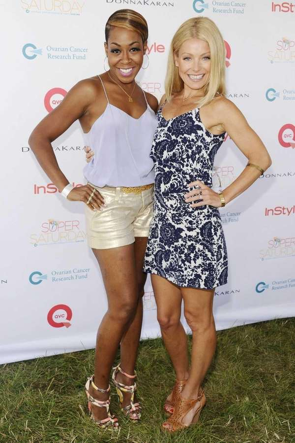 Entertainer Tichina Arnold, left, and television celebrity Kelly