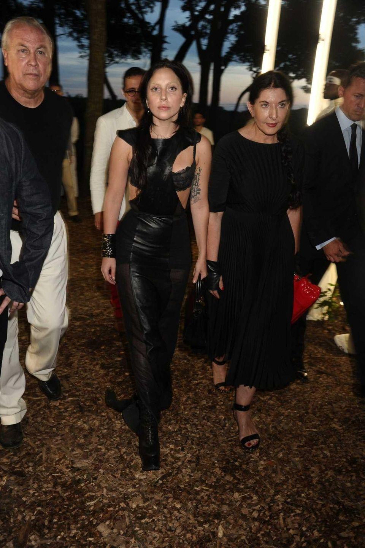 Robert Wilson, Lady Gaga and Marina Abramovic walk