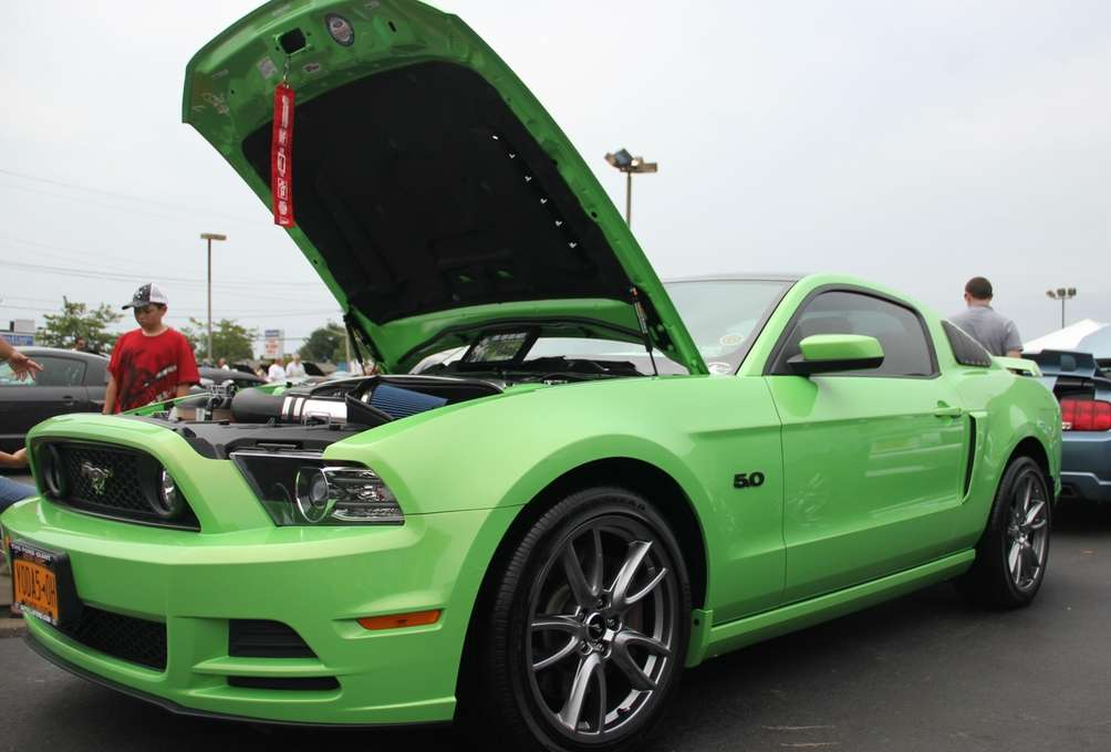 A 2013 Mustang GT owned by A.J. Tata