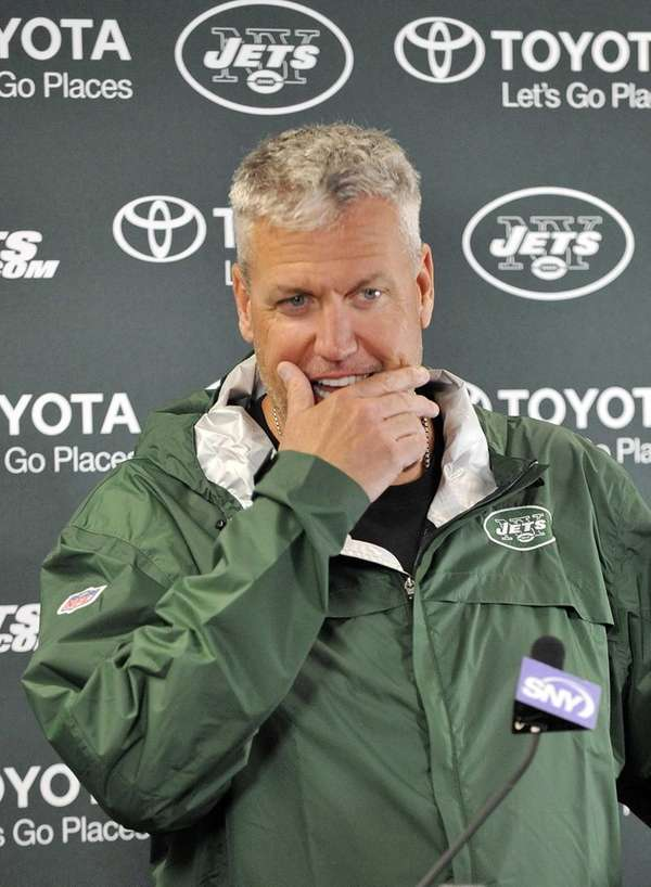 Rex Ryan talks about heavy rain during football