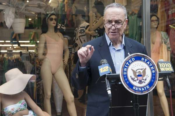 Sen. Charles Schumer holds a news conference in
