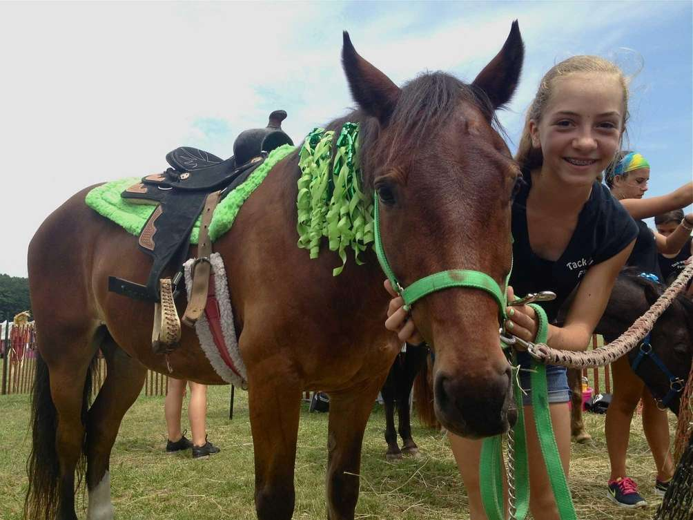 Caitlin Randberg, 12, of Tack N' Go Farms,