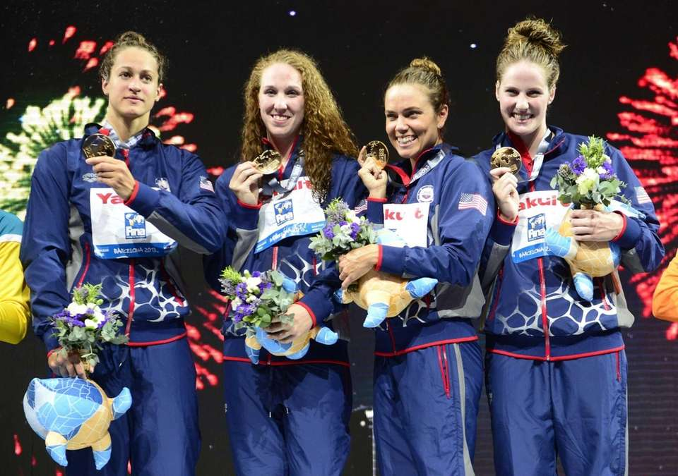 United States swimmers (from right to left) Missy