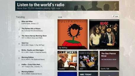 TuneIn.com gives you access to live radio stations