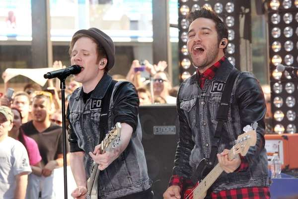 Patrick Stump and Pete Wentz perform with Fall