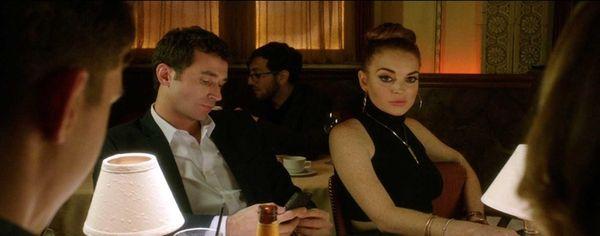 James Deen as Christian and Lindsay Lohan as