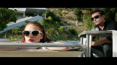 Lindsay Lohan as Tara and James Deen as