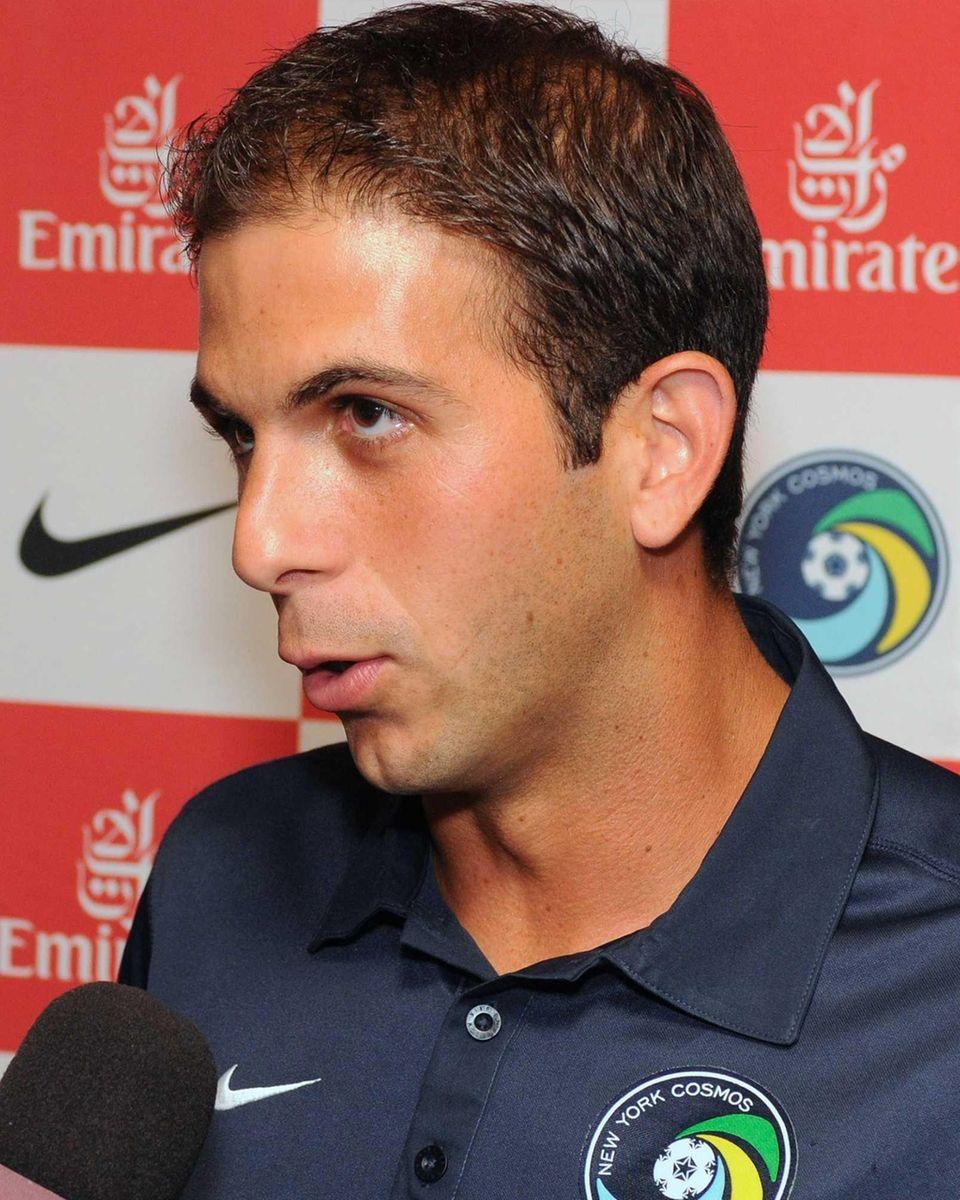 Cosmos defender Carlos Mendes, a graduate of the