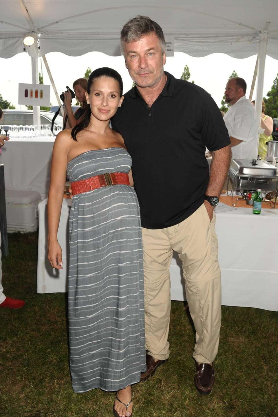 Hilaria Baldwin, Alec Baldwin attend the 2013 Chefs