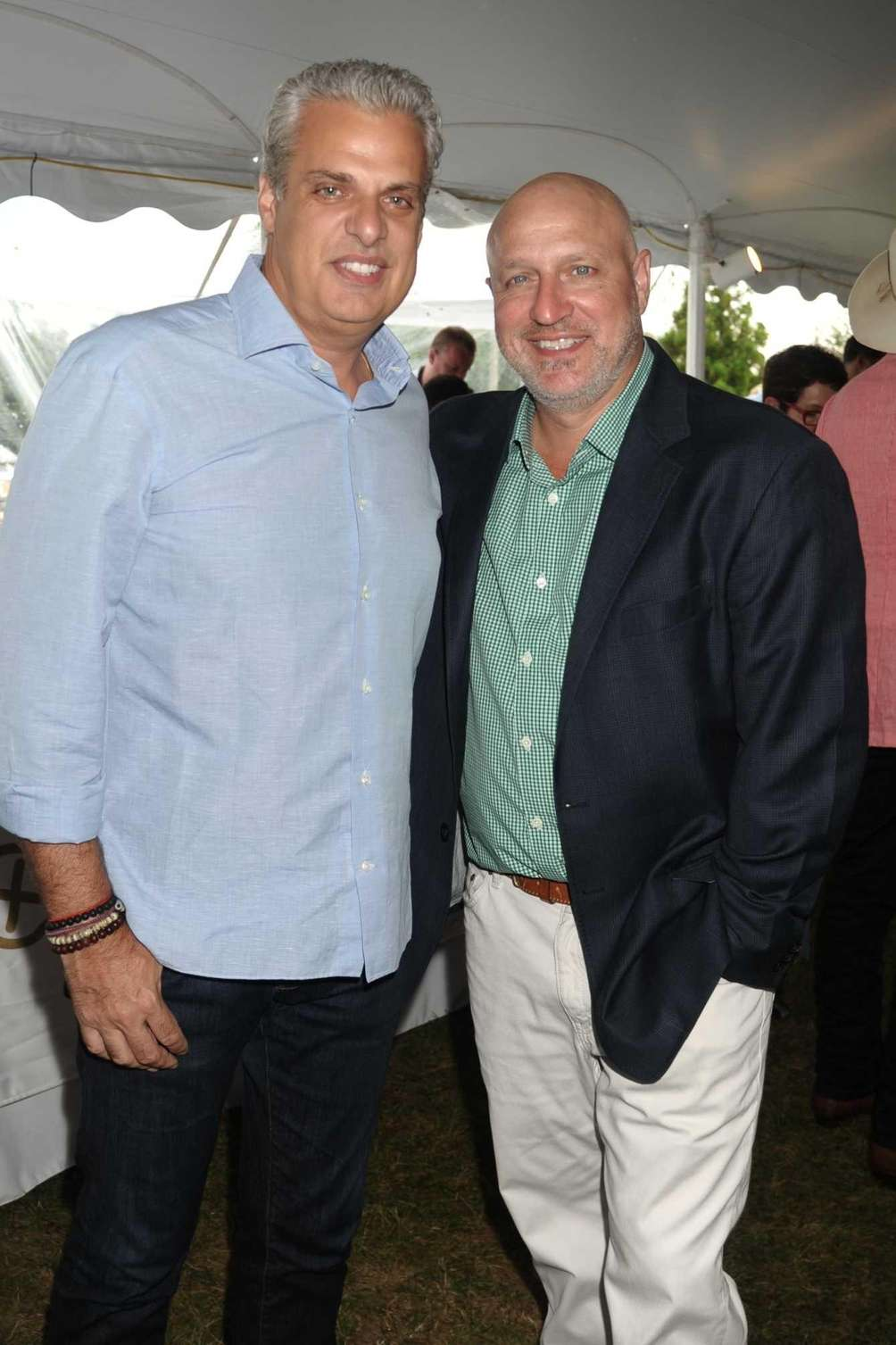 Chefs Eric Ripert and Tom Colicchio attend the