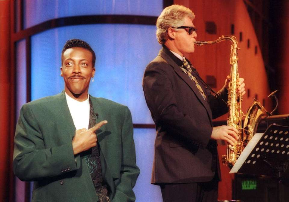 Arsenio Hall -- with then-Arkansas Gov. Bill Clinton